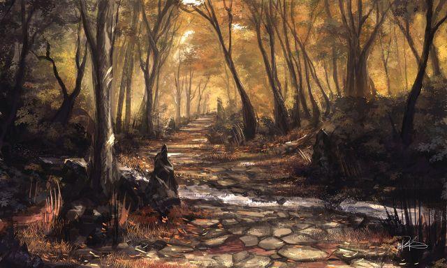 autumn stream By ninjatic d6djpnr
