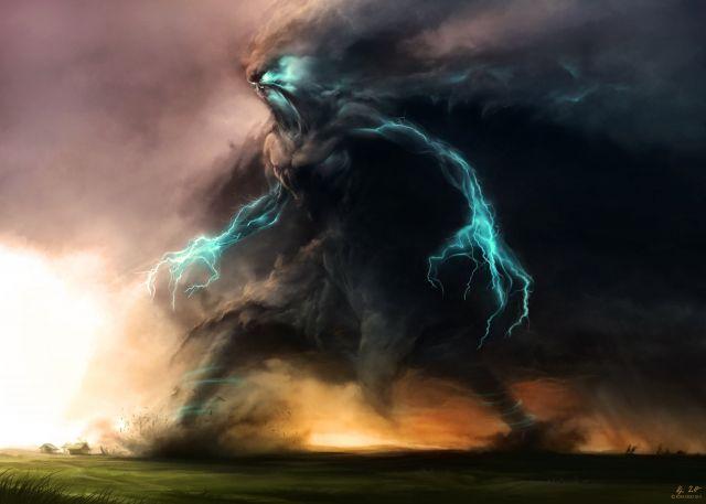 красивые картинки торнадо молнии элементаль бури 2040947